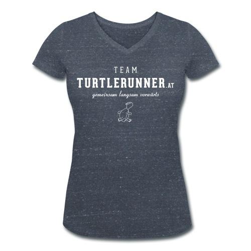 Team Shirt mit Daphne 7 - Frauen Bio-T-Shirt mit V-Ausschnitt von Stanley & Stella