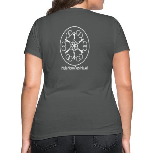 Hula Hoop Austria Logo White - Frauen Bio-T-Shirt mit V-Ausschnitt von Stanley & Stella