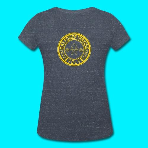 logo yellow png - T-shirt ecologica da donna con scollo a V di Stanley & Stella