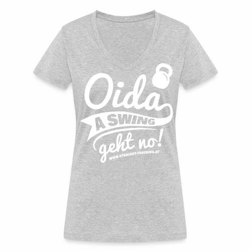 Oida a swing geht no - Frauen Bio-T-Shirt mit V-Ausschnitt von Stanley & Stella