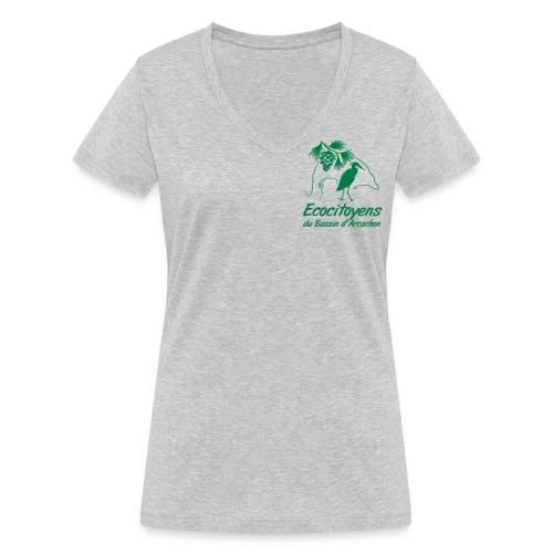 LOGO EBA POITRINE - T-shirt bio col V Stanley & Stella Femme