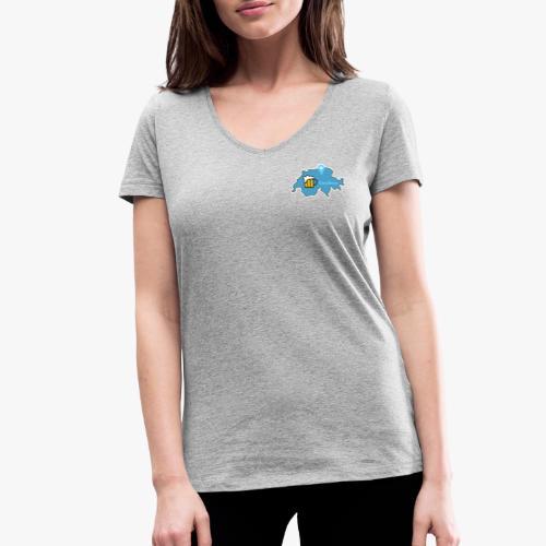 GeoBeer Logo - Frauen Bio-T-Shirt mit V-Ausschnitt von Stanley & Stella