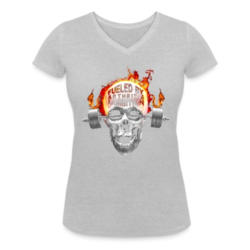 Fueled by Arthritis & Ambition - Women's Organic V-Neck T-Shirt by Stanley & Stella