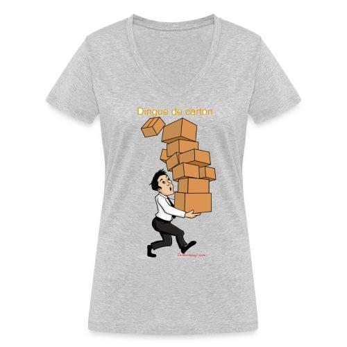 Dingue de carton - T-shirt bio col V Stanley & Stella Femme