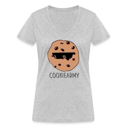 CookieArmy2 - Frauen Bio-T-Shirt mit V-Ausschnitt von Stanley & Stella