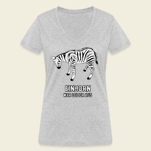 Zebra - Frauen Bio-T-Shirt mit V-Ausschnitt von Stanley & Stella