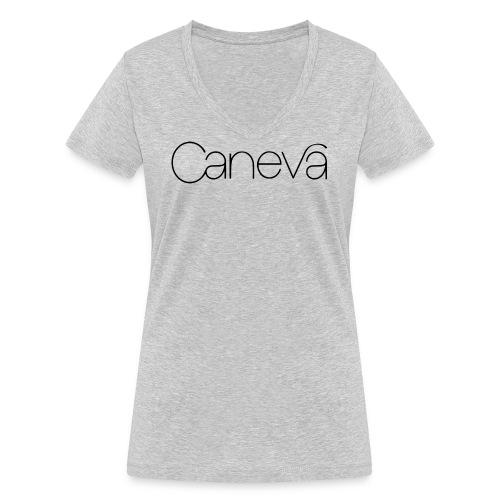 caneva logo - Frauen Bio-T-Shirt mit V-Ausschnitt von Stanley & Stella