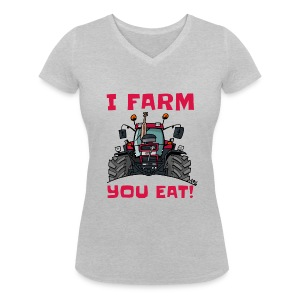 I farm you eat case - Vrouwen bio T-shirt met V-hals van Stanley & Stella