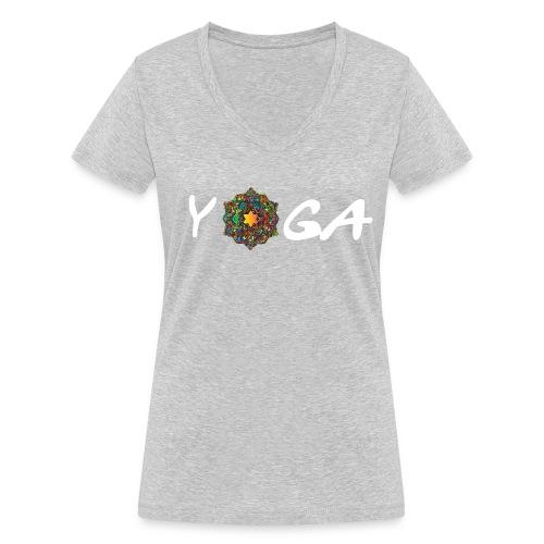 YOGA MANDALA T-SHIRT - Frauen Bio-T-Shirt mit V-Ausschnitt von Stanley & Stella