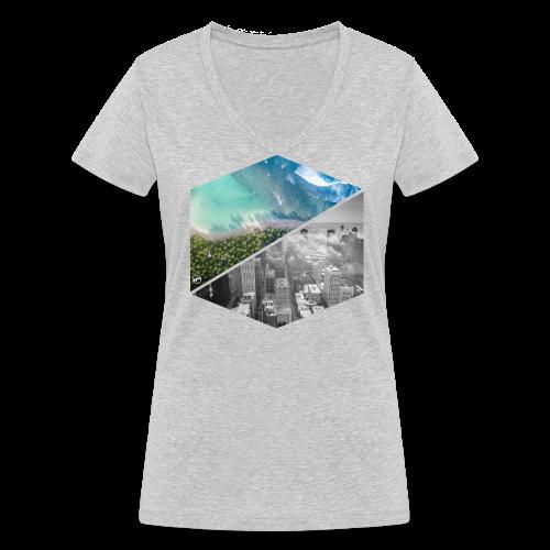 City vs Palm Beach - Frauen Bio-T-Shirt mit V-Ausschnitt von Stanley & Stella