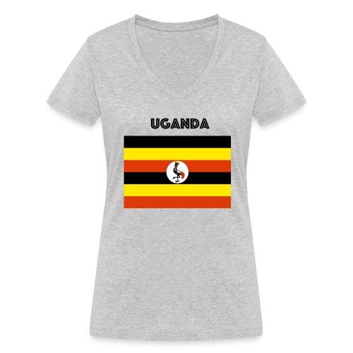 uganda shirt online - Women's Organic V-Neck T-Shirt by Stanley & Stella