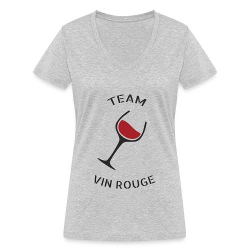 Team Vin Rouge - T-shirt - T-shirt bio col V Stanley & Stella Femme