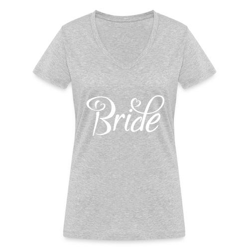 Bride - Frauen Bio-T-Shirt mit V-Ausschnitt von Stanley & Stella