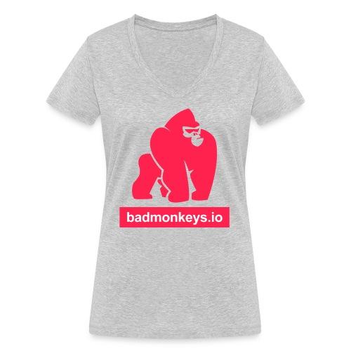 Go full ape on us - our your friends - Frauen Bio-T-Shirt mit V-Ausschnitt von Stanley & Stella