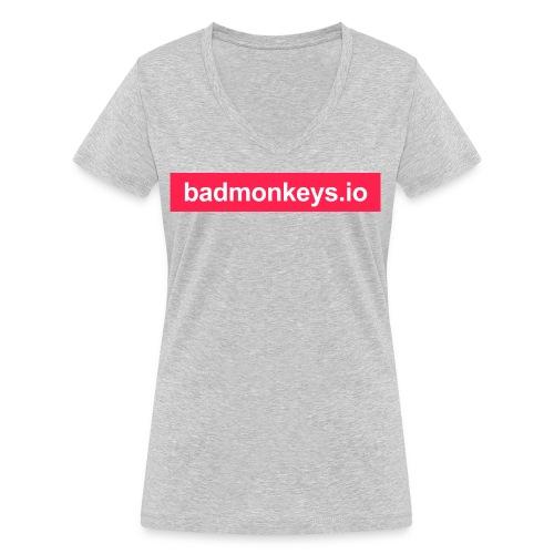 Carry the brand & URL - Frauen Bio-T-Shirt mit V-Ausschnitt von Stanley & Stella