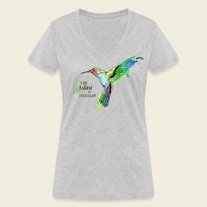 KOLIBRI im Taubenschwarm - Frauen Bio-T-Shirt mit V-Ausschnitt von Stanley & Stella