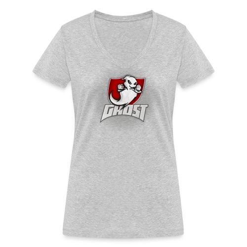 Team Ghost (ohne Strahlen) - Frauen Bio-T-Shirt mit V-Ausschnitt von Stanley & Stella