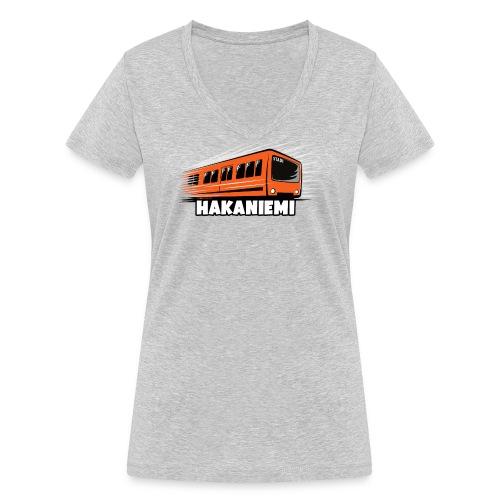 13- METRO HAKANIEMI - HELSINKI - LAHJATUOTTEET - Stanley & Stellan naisten v-aukkoinen luomu-T-paita