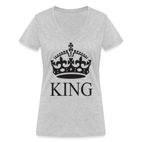 king - Camiseta ecológica mujer con cuello de pico de Stanley & Stella