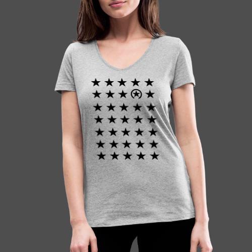gwiazda - Ekologiczna koszulka damska z dekoltem w serek Stanley & Stella