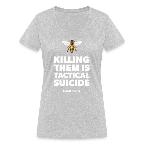 Ein Statement für die Bienen - Frauen Bio-T-Shirt mit V-Ausschnitt von Stanley & Stella