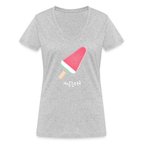 melon vrouwen t-shirt - Vrouwen bio T-shirt met V-hals van Stanley & Stella