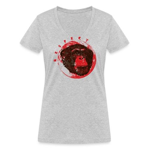 Respect chimpanze - T-shirt bio col V Stanley & Stella Femme