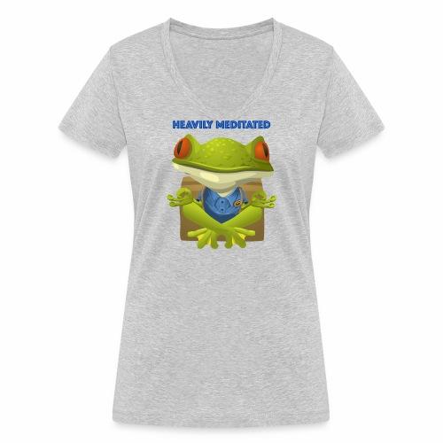 Heavily meditated - frog - Frauen Bio-T-Shirt mit V-Ausschnitt von Stanley & Stella