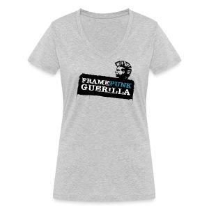 blacklogo - Frauen Bio-T-Shirt mit V-Ausschnitt von Stanley & Stella