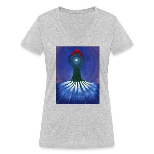 Drzewo Samotne - Ekologiczna koszulka damska z dekoltem w serek Stanley & Stella