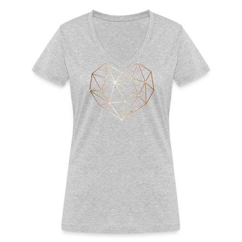 Herz in Diamant, Diamantherz - Frauen Bio-T-Shirt mit V-Ausschnitt von Stanley & Stella