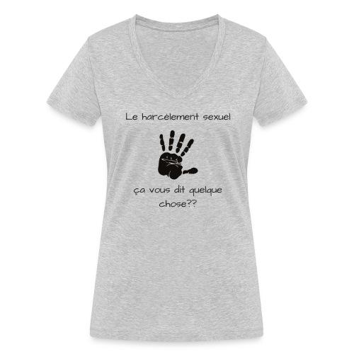 Le harcèlement sexuel - T-shirt bio col V Stanley & Stella Femme