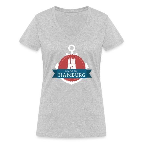 Made in Hamburg - invert - Frauen Bio-T-Shirt mit V-Ausschnitt von Stanley & Stella