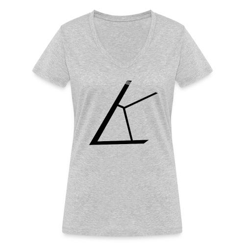 LKB Logo RD - Frauen Bio-T-Shirt mit V-Ausschnitt von Stanley & Stella