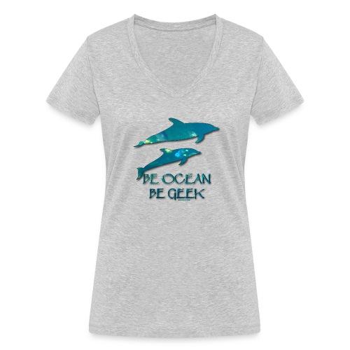 Be Dolphins - Soutien à La Dolphin Connection - T-shirt bio col V Stanley & Stella Femme