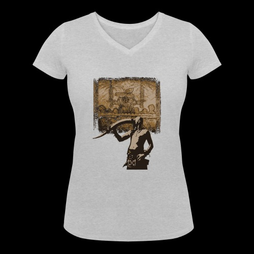 Buvons à la gloire de Svefnii - T-shirt bio col V Stanley & Stella Femme