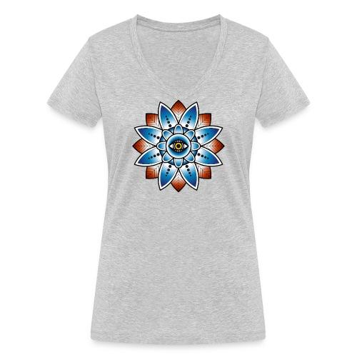 Psychedelisches Mandala mit Auge - Frauen Bio-T-Shirt mit V-Ausschnitt von Stanley & Stella