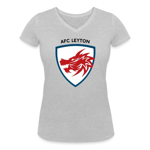 AFC Leyton Logo (Black) - Women's Organic V-Neck T-Shirt by Stanley & Stella