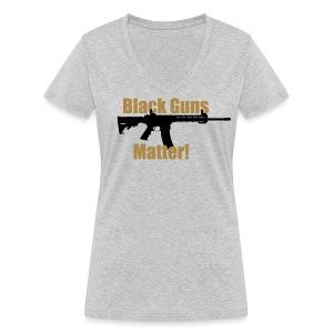 BLACK GUNS MATTER - Frauen Bio-T-Shirt mit V-Ausschnitt von Stanley & Stella