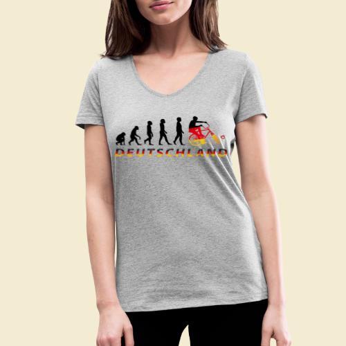 Radball | Evolution Deutschland - Frauen Bio-T-Shirt mit V-Ausschnitt von Stanley & Stella