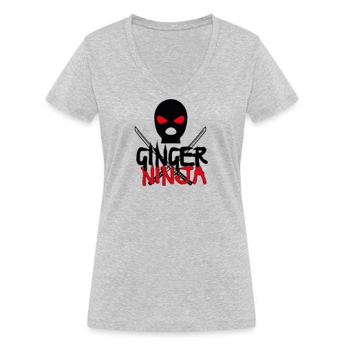 the gingerninja - Frauen Bio-T-Shirt mit V-Ausschnitt von Stanley & Stella