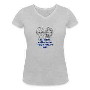 Mutha Ucka Flight of the Conchords - Women's Organic V-Neck T-Shirt by Stanley & Stella