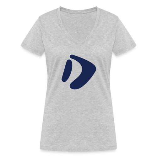 Logo D Blue DomesSport - Frauen Bio-T-Shirt mit V-Ausschnitt von Stanley & Stella