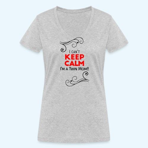 I Can't Keep Calm (voor lichte stof) - Vrouwen bio T-shirt met V-hals van Stanley & Stella