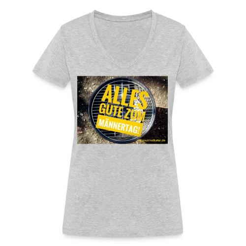 Männer-Tag - Frauen Bio-T-Shirt mit V-Ausschnitt von Stanley & Stella
