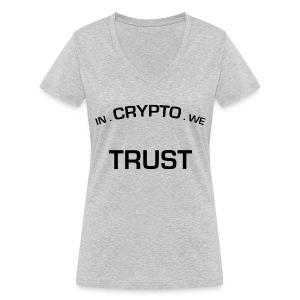 In Crypto we trust - Vrouwen bio T-shirt met V-hals van Stanley & Stella