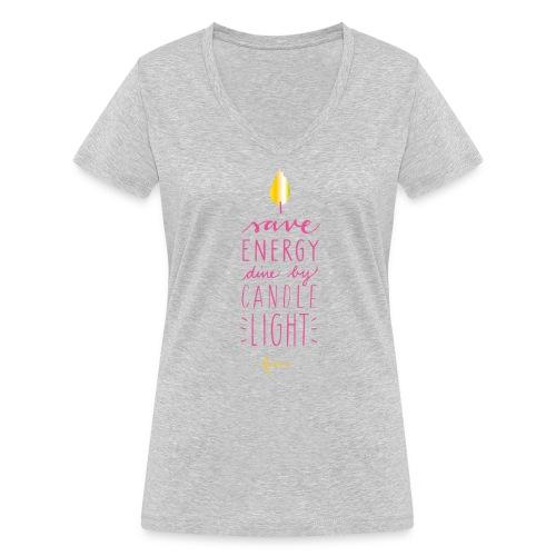 faina candle light - Frauen Bio-T-Shirt mit V-Ausschnitt von Stanley & Stella