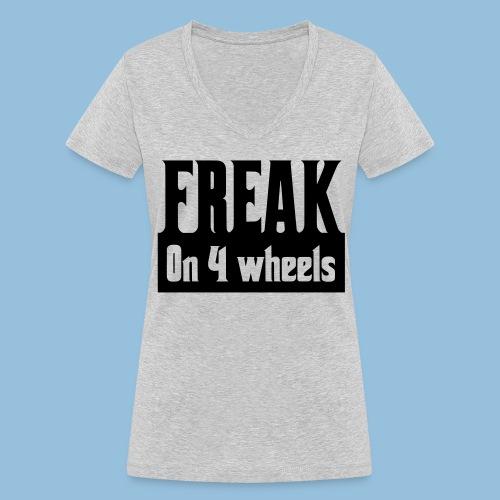 Freakon4wheels - Vrouwen bio T-shirt met V-hals van Stanley & Stella