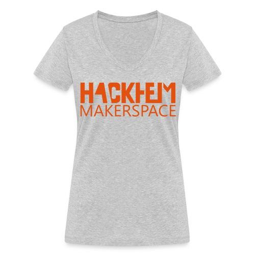 Hackheim Makerspace - Økologisk T-skjorte med V-hals for kvinner fra Stanley & Stella