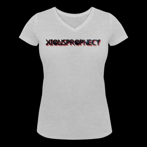 XPShirtLogo2Red - Women's Organic V-Neck T-Shirt by Stanley & Stella